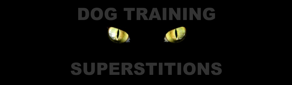 dog training superstitions, dog trainer.